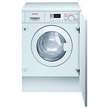 Buy Bosch WKD28350GB Integrated Washer Dryer, 6kg Wash/4kg Dry Load, B Energy Rating, 1400rpm Spin Online at johnlewis.com
