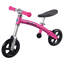 Buy Micro Balance Bike, Pink Online at johnlewis.com