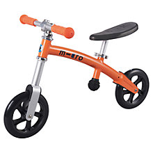Buy Micro Scooters Micro Balance Bike, Orange Online at johnlewis.com