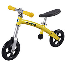 Buy Micro Scooters Micro Balance Bike, Yellow Online at johnlewis.com