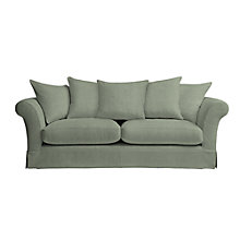Buy John Lewis Chambery Large Loose Cover Sofa, Newlyn Dark Eau Di Nil Online at johnlewis.com