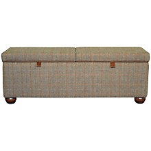 Buy Harris Tweed Lewis Storage Bench, Bracken/ Tan Online at johnlewis.com