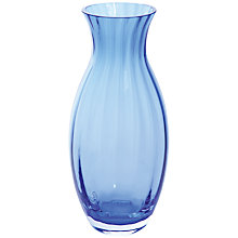 Buy Dartington Crystal Big Gems Oval Vase, Cobalt Online at johnlewis.com