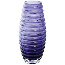 Buy Dartington Crystal Big Gems Beehive Vase, Amethyst Online at johnlewis.com