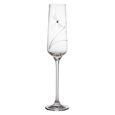 Dartington Crystal Dragonfly Champagne Flutes, Set of 2