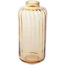 Buy Dartington Crystal Big Gems Lantern Vase, Amber Online at johnlewis.com
