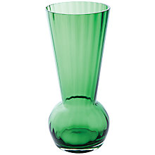 Buy Dartington Crystal Big Gems Funnel Vase, Bottle Green Online at johnlewis.com