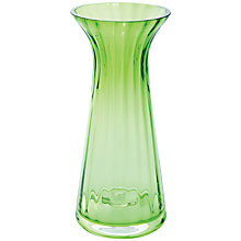 Buy Dartington Crystal Big Gems Conical Vase, Lime Online at johnlewis.com