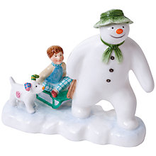 Buy John Beswick Snowman & Snowdog Ornament Online at johnlewis.com