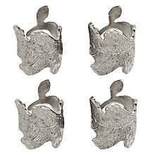 Buy Culinary Concepts Oak Leaf Napkin Rings, Set of 4 Online at johnlewis.com