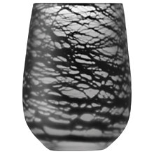Buy LSA International Silk Vase, H23cm, Black Online at johnlewis.com