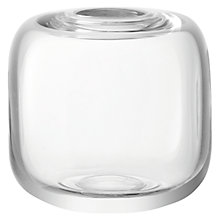 Buy LSA International Molten Cube Vase, H11cm, Clear Online at johnlewis.com