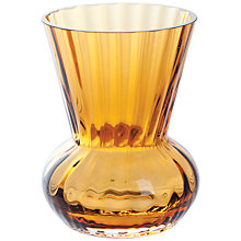 Buy Dartington Little Gems Funnel Vase, Amber Online at johnlewis.com