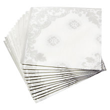 Buy John Lewis Ornate Dinner Napkin, Set of 12 Online at johnlewis.com