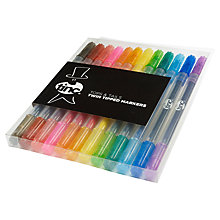 Buy Tinc Tops & Tails Twin Tip Markers, Set of 12 Online at johnlewis.com
