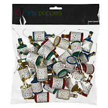Buy John Lewis Party Poppers Stars, Pack of 30 Online at johnlewis.com