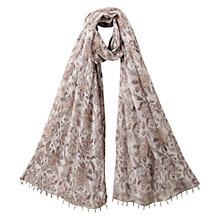 Buy East Anokhi Samode Print Scarf, White Online at johnlewis.com
