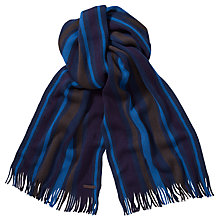Buy Ted Baker Wylam Stripe Raschel Scarf, Navy Online at johnlewis.com