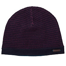 Buy Ted Baker Newtown Wavy Stripe Beanie, One Size, Navy Online at johnlewis.com
