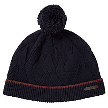 Buy Ted Baker Maxey Bobble Beanie Hat, Navy Online at johnlewis.com