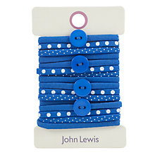 Buy John Lewis Button Hair Ties, Pack of 16 Online at johnlewis.com