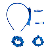 Buy John Lewis Girl Plain Hair Set, Blue Online at johnlewis.com