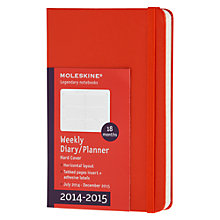 Buy Moleskin 18 Month Weekly Diary, 2014-15 Online at johnlewis.com