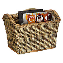 Buy John Lewis New England Willow Magazine Rack, Grey Online at johnlewis.com