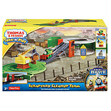 Buy Fisher-Price Thomas & Friends Take-n-Play Engine Scrapyard Clean Up Team Play Set Online at johnlewis.com