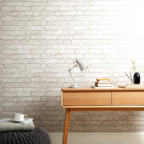 Buy house by john lewis brick wall wallpaper putty john for Wallpaper for walls for sale