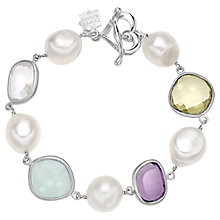 Buy Dower & Hall Candy Sterling Silver Multi-Stone Bracelet Online at johnlewis.com