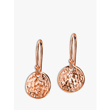 Buy Dower & Hall Textured Disc Drop Earrings Online at johnlewis.com