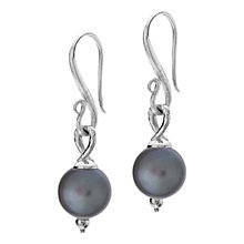 Buy Dower & Hall Sterling Silver And Pearl Drop Earrings Online at johnlewis.com