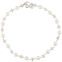 Buy Dower & Hall Pearl Necklace, Silver/White Online at johnlewis.com