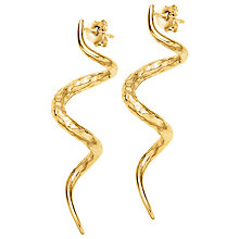 Buy Dower & Hall 18ct Yellow Gold Plated Curl Stud Earrings Online at johnlewis.com