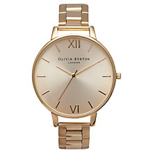 Buy Olivia Burton Women's Big Dial Bracelet Strap Watch Online at johnlewis.com