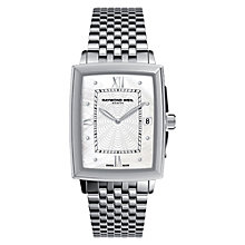 Buy Raymond Weil 5956-ST-00915 Tradition Women's Mother of Pearl Rectangular Watch, Silver Online at johnlewis.com