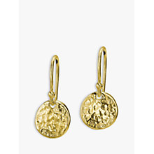 Buy Dower & Hall 18ct Gold Plated Disc Drop Earrings Online at johnlewis.com