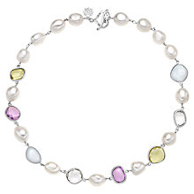 Buy Dower & Hall Candy Sterling Silver Multi-Stone Necklace Online at johnlewis.com