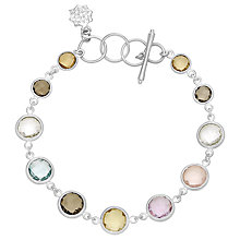 Buy Dower & Hall Sterling Silver Multi Stone Bracelet Online at johnlewis.com