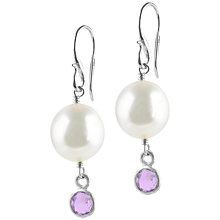 Buy Dower & Hall Pearl And Amethyst Drop Earrings, Purple Online at johnlewis.com