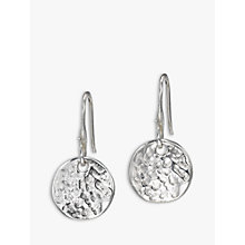 Buy Dower & Hall Sterling Silver Disc Drop Earrings Online at johnlewis.com