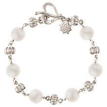 Buy Dower & Hall Sterling Silver And Pearl Bracelet, Silver/White Online at johnlewis.com