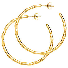 Buy Dower & Hall Ripple Hoop Earrings Online at johnlewis.com