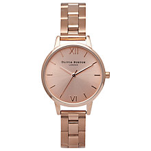 Buy OBOlivia Burton OB13BL05B Women's Midi Dial Bracelet Strap Watch, Rose Gold Online at johnlewis.com