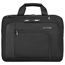 "Buy Briggs & Riley Verb Engage 15"" Laptop Mini Briefcase, Black Online at johnlewis.com"