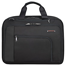 "Buy Briggs & Riley Verb Adapt 15.6"" Laptop Briefcase, Black Online at johnlewis.com"