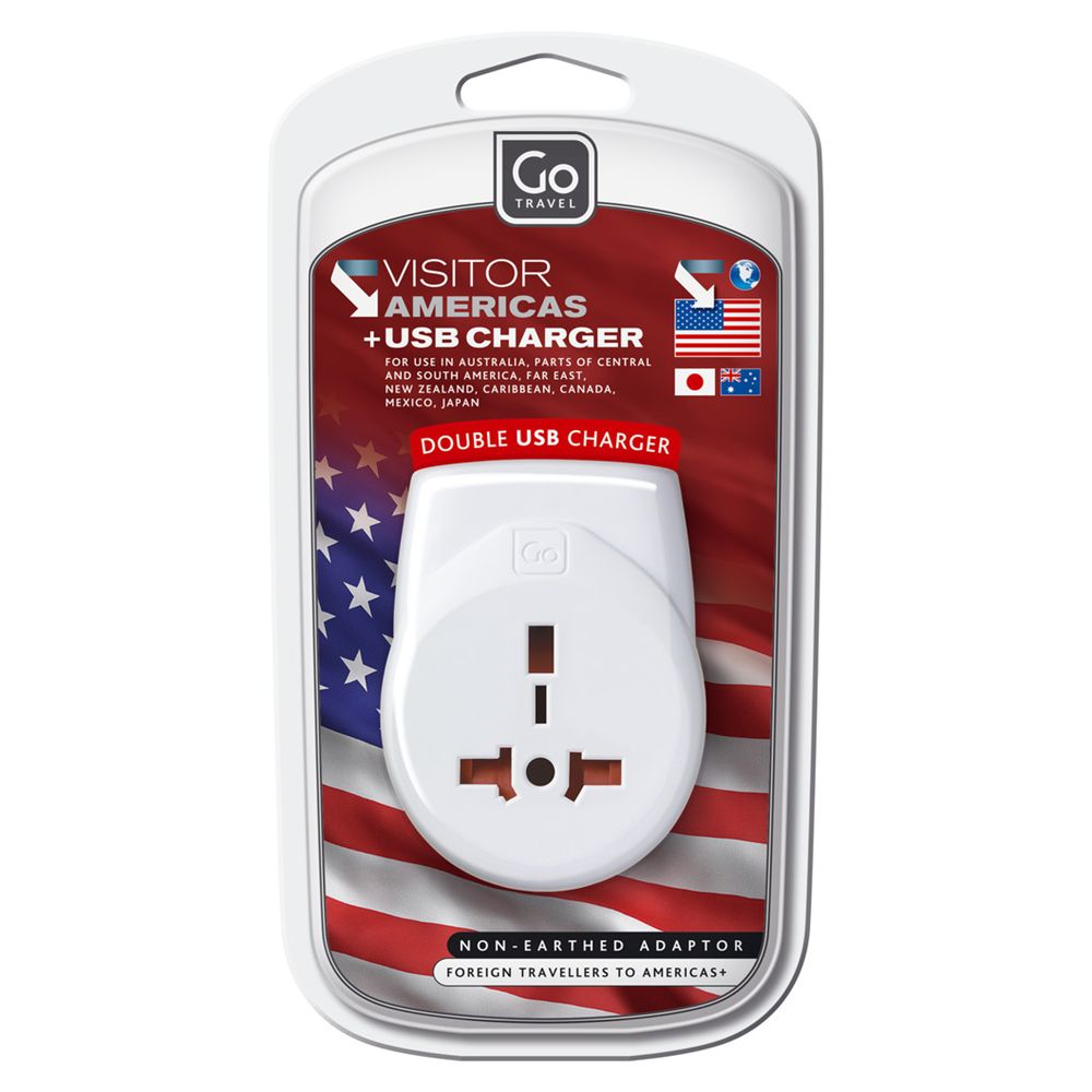 Go Travel Go Travel Transworld USB Adaptor, White