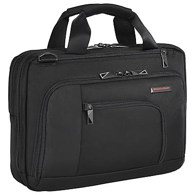 Briggs & Riley Verb Contact 13 Laptop Briefcase Black