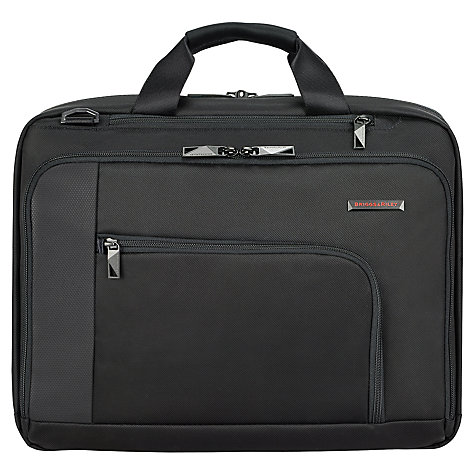 "Buy Briggs & Riley Verb Connect 15.6"" Laptop Briefcase, Black Online at johnlewis.com"